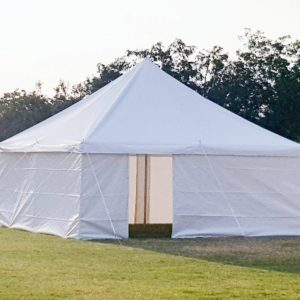 5m x 5m peg and pole tent
